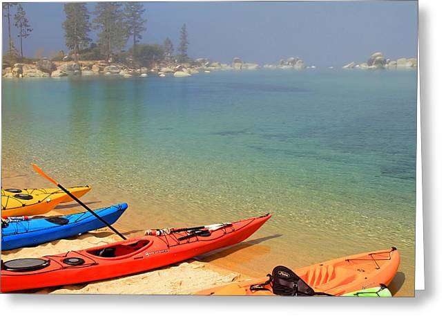 South Lake Tahoe Greeting Cards - Waiting For The Fog To Lift Greeting Card by Donna Kennedy