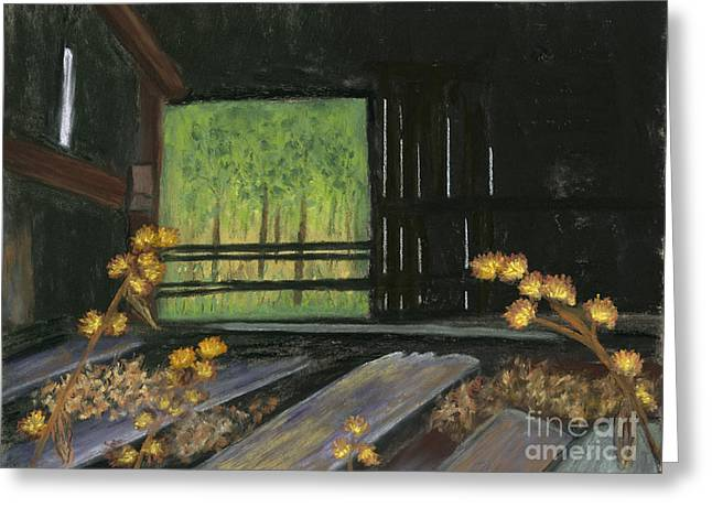 Dilapidated Pastels Greeting Cards - Waiting for the Light Greeting Card by Ginny Neece