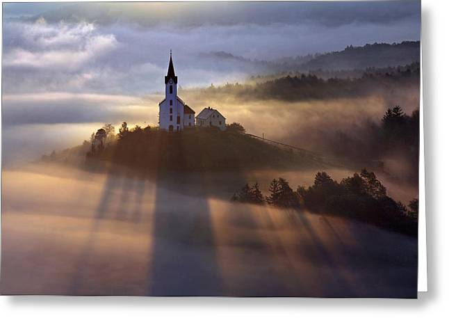 Morning Greeting Cards - Waiting For The Miracle Greeting Card by Matjaz Cater
