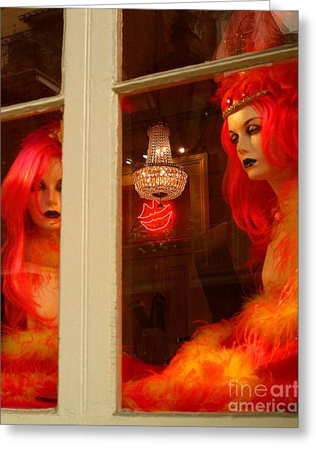 Store Fronts Greeting Cards - Waiting for the Party Greeting Card by Lew Lautin