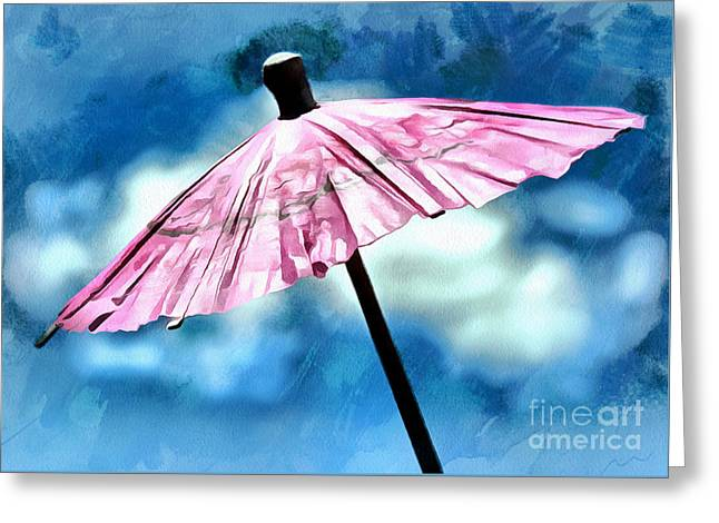Whimsical. Greeting Cards - Waiting For The Sun Greeting Card by Krissy Katsimbras