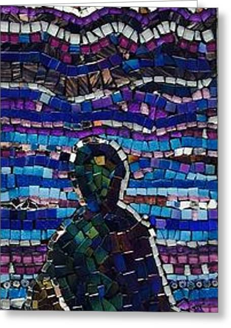 Bass Glass Art Greeting Cards - Waiting  Greeting Card by Helen McLean