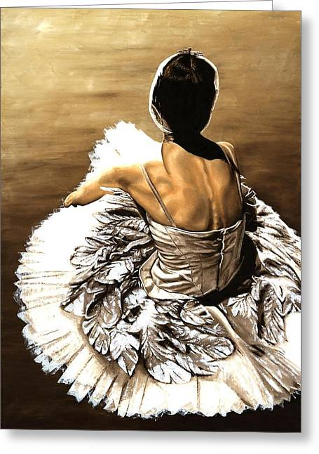 Sat Paintings Greeting Cards - Waiting in the Wings Greeting Card by Richard Young