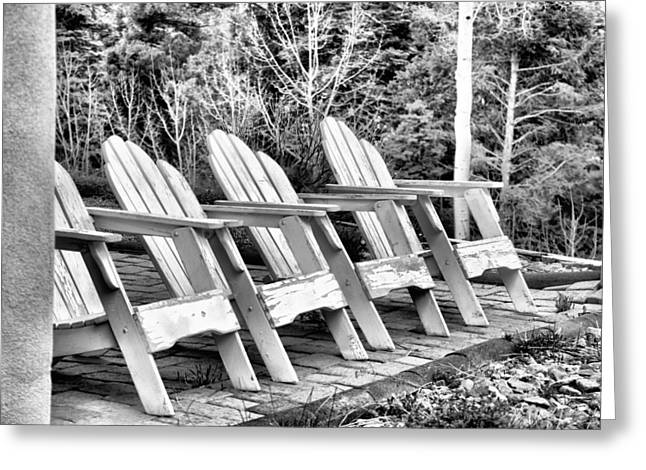 Lawn Chair Greeting Cards - Waiting Greeting Card by Jacqui Binford-Bell