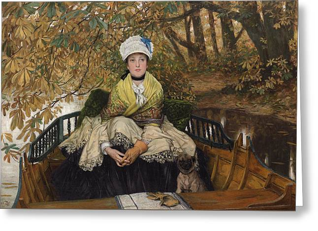 Waiting Greeting Card by James Jacques Joseph Tissot