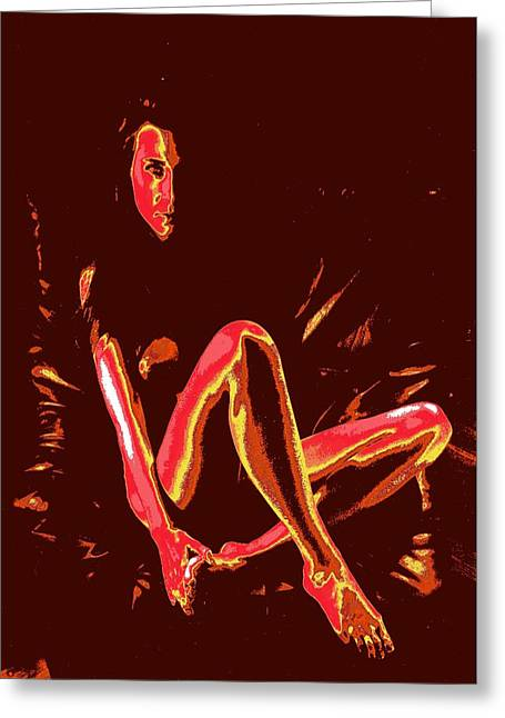 Lanvin Greeting Cards - Waiting Greeting Card by Jean-Marie Bottequin
