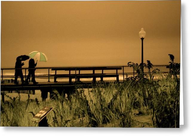 Ocean Grove Greeting Cards - Waiting on the Rain Greeting Card by Joe  Burns