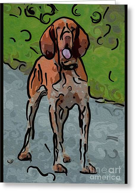 Waiting Patiently Over Here Greeting Card by Omaste Witkowski