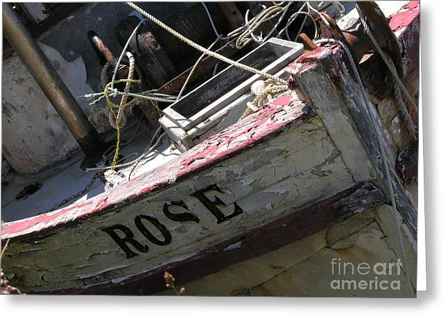 Yatch Greeting Cards - Waiting Restoration Greeting Card by Diane  Greco-Lesser