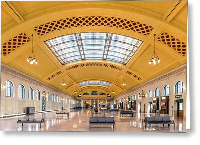 Waiting Room - Saint Paul Union Depot Greeting Card by Jim Hughes
