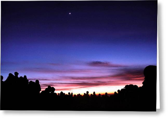 waiting sunrise Greeting Card by Mario Bennet