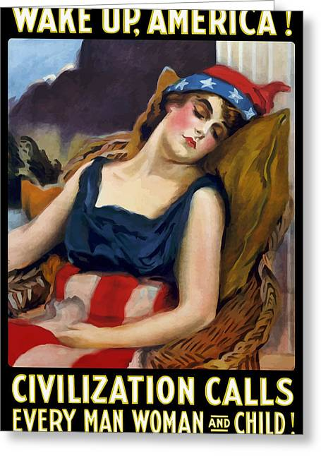 Best Sellers -  - First-lady Greeting Cards - Wake Up America Civilization Calls Greeting Card by War Is Hell Store