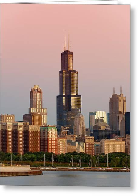 Lake Michigan Greeting Cards - Wake Up Chicago Greeting Card by Sebastian Musial