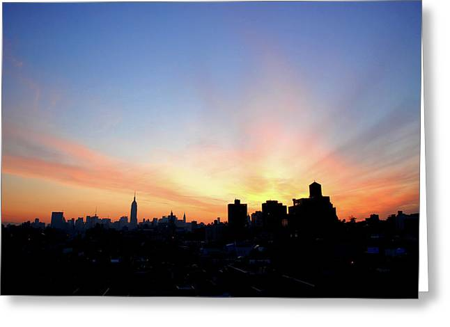 D200 Greeting Cards - Wake Up New York Greeting Card by Robert DeMarco