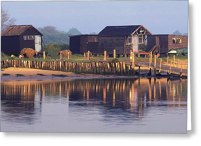 Blyth Greeting Cards - Walberswick Reflections Greeting Card by John Perriment