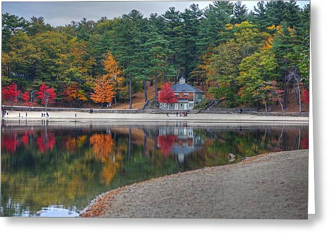 Walden Pond Bath House Concord Ma Beach Greeting Card by Toby McGuire