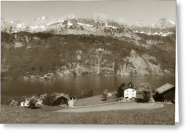 Paradise Road Greeting Cards - Walensee Lake Greeting Card by Antonio Costa