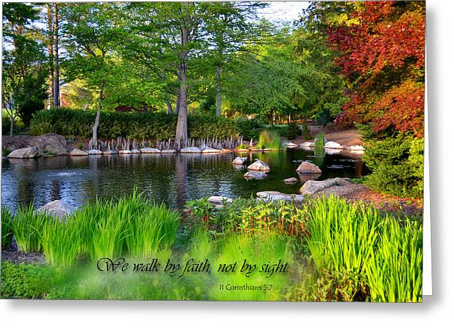 Walk By Faith Greeting Card by Larry Bishop