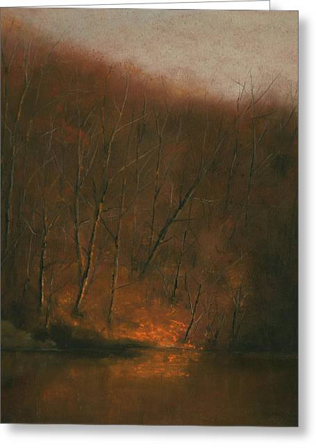 Peaceful Scenery Pastels Greeting Cards - Walk in the Light of Your Presence Greeting Card by Gary Sluzewski