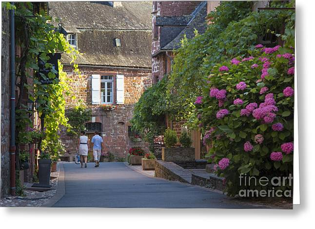 Historic Home Greeting Cards - Walk Through Collonges-la-Rouge Greeting Card by Brian Jannsen