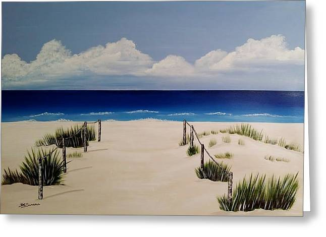 Walk To The Beach Greeting Card by Debbie Chaves Sumrall