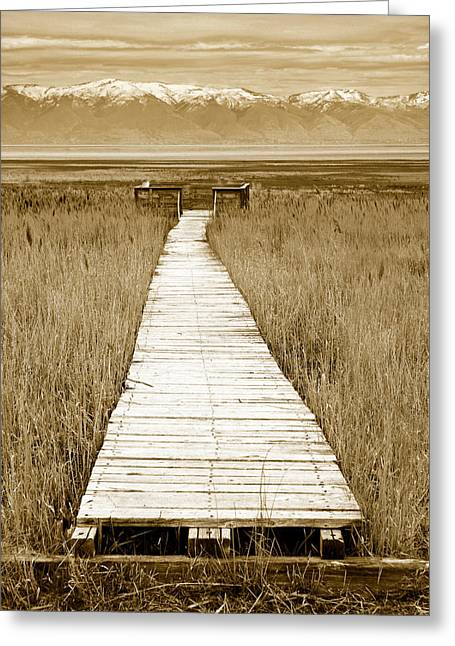 Walk Alone Greeting Cards - Walk With Me 1 Greeting Card by Marilyn Hunt