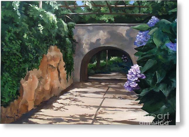 Walk With Me Greeting Card by Suzanne Schaefer