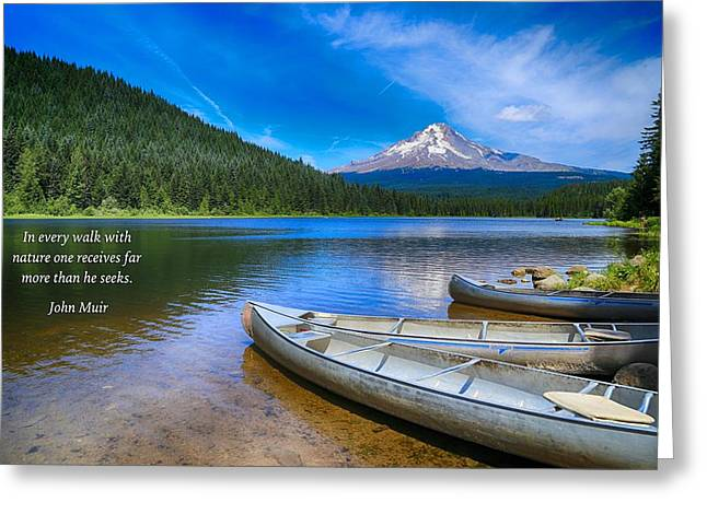 Canoe Greeting Cards - Walk with nature Greeting Card by Lynn Hopwood