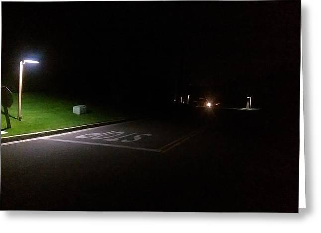 Streetlight Greeting Cards - Walking Greeting Card by Andrew Barber
