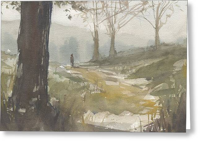 Walking At Green Island Greeting Card by John Holdway