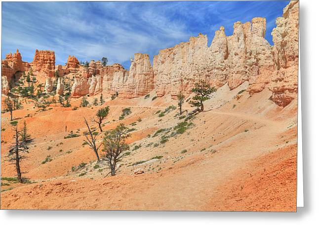 Fairyland Greeting Cards - Walking In Hoodoo Land Greeting Card by Donna Kennedy