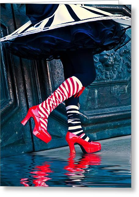 Schmid Greeting Cards - Walking on Water Greeting Card by Ken Koskela