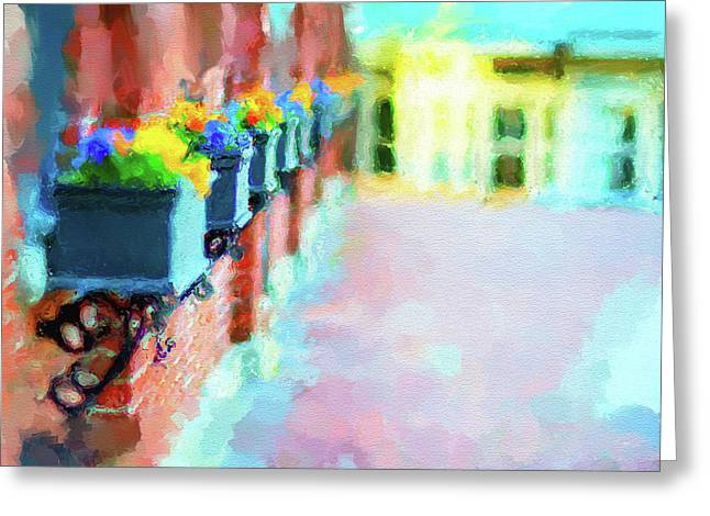Amesbury Greeting Cards - Wall Flower on the Mills in Amesbury MA Greeting Card by Thomas Logan