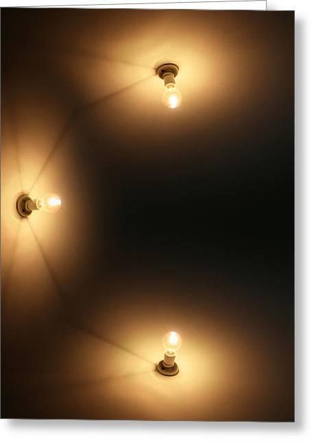 Night Lamp Greeting Cards - Wall Lighting Greeting Card by Ryan Jorgensen