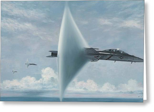 F-18 Greeting Cards - Wall of Sound Redcocks Style Greeting Card by Wade Meyers