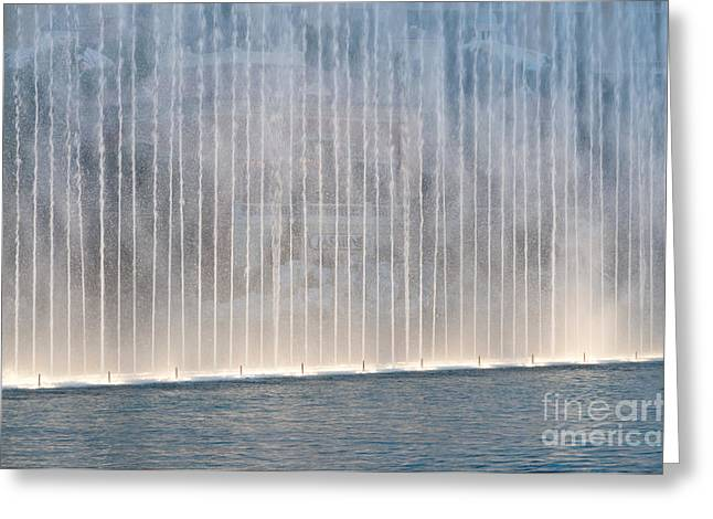 Las Vegas Photographs Greeting Cards - Wall of Water Greeting Card by Andy Smy