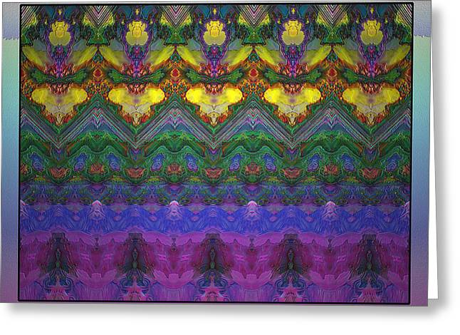 Visionary Artist Greeting Cards - Flowers and Faces Greeting Card by Bob  Eige