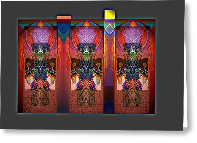 Visionary Artist Greeting Cards - In Celebration of Tribes Greeting Card by Bob  Eige