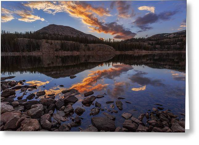 Rockies Greeting Cards - Wall Reflection Greeting Card by Chad Dutson