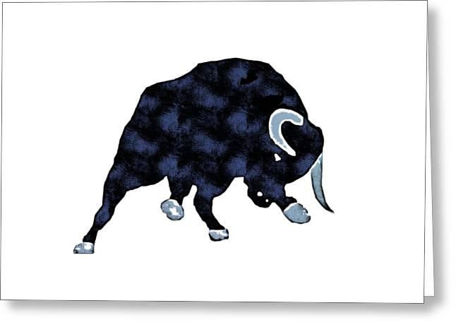 Wall Street Bull Market Series 1 T-shirt Greeting Card by Edward Fielding
