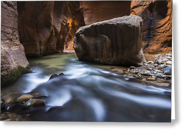 Zion Greeting Cards - Wall Street Greeting Card by Joseph Rossbach