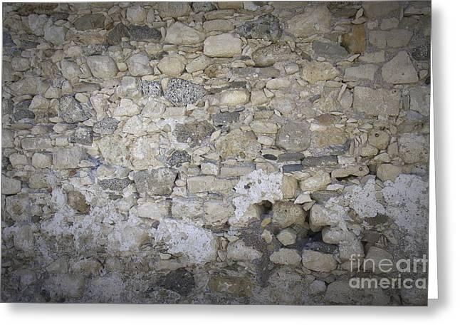 Wall Surface At Kales Fort In Lerapetra Greeting Card by Antony McAulay