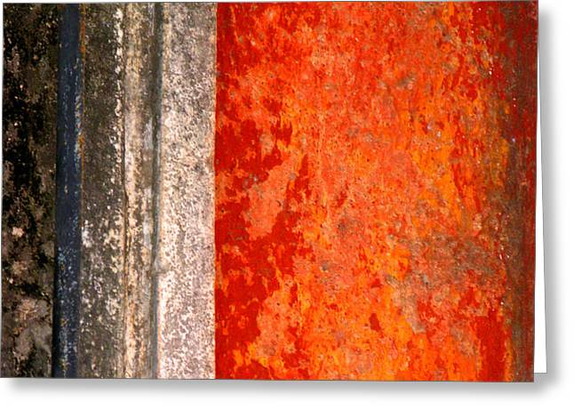 Wall with Red by Michael Fitzpatrick Greeting Card by Olden Mexico