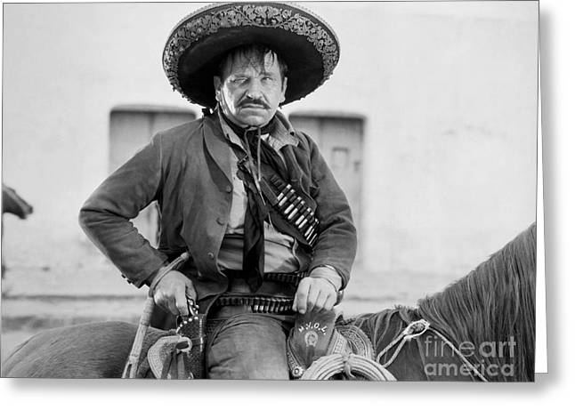 Mexican Revolution Greeting Cards - Wallace Beery (1885-1949) Greeting Card by Granger