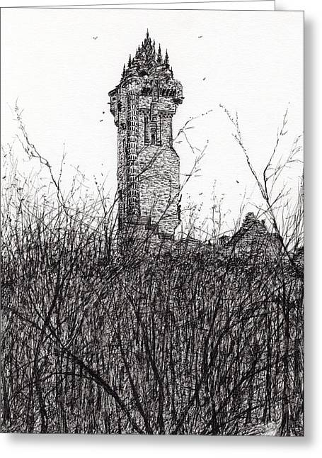 Wallace Monument Greeting Card by Vincent Alexander Booth