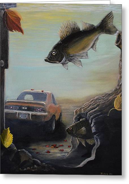Sunset Prints Greeting Cards - Walleye Fall 3 Greeting Card by Kimberly Benedict