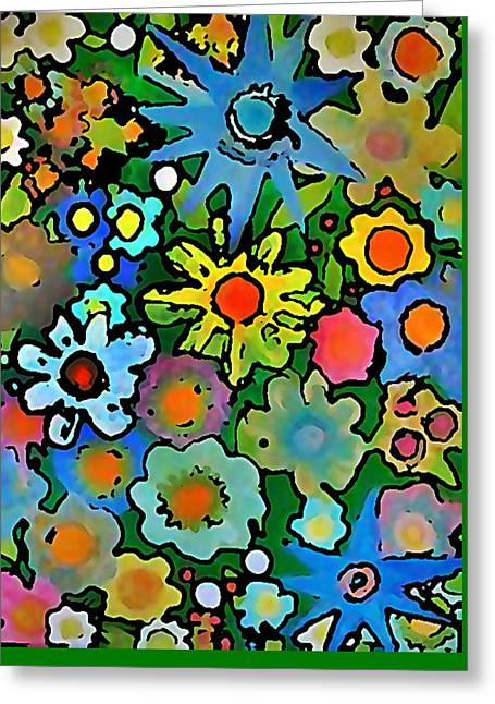 Wallflowers Greeting Card by Gregory McLaughlin