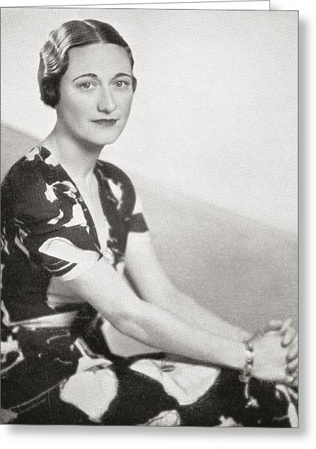 Wallis Simpson, Previously Wallis Greeting Card by Vintage Design Pics