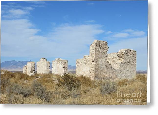 Civil Greeting Cards - Walls of Fort Craig Greeting Card by Lorita Montgomery