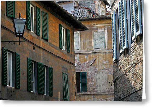 Sienna Italy Greeting Cards - Walls of Sienna Greeting Card by Jim Manganella